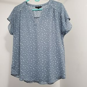Soft blue with stars blouse